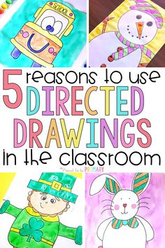 Every teacher should be using directed drawings in the classroom! These art activities for kid produce masterpieces and build listening and following directions. This is the ultimate source for FREE step by step tutorials and directed drawing resources. #directeddrawing #artforkids #artintheclassroom #kidart #drawing