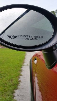MINI Humor- OBJECTS IN MIRROR ARE LOSING