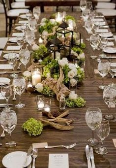 64 Driftwood Wedding Decor Ideas To Rock Gorgeous driftwood table setting for guests. The post 64 Driftwood Wedding Decor Ideas To Rock appeared first on DIY Shares. Centerpiece Wedding Flower Arrangements, Wedding Table Decorations, Decoration Table, Beach Centerpieces, Centrepieces, Centerpiece Ideas, Moss Wedding Decor, Flowers Decoration, Beautiful Decoration