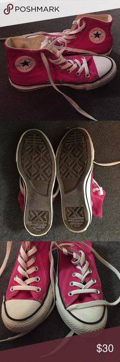 Pink Converse Perfect condition pink converse! Woman's 4 Converse Shoes