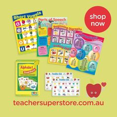 FEATURED: English Posters, Charts & Mats Decorate and create a point of reference in the classroom with our range of English posters, charts and mats. This range covers a range of learning strands and concepts. View the collection online.