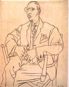 Portrait of Igor Stravinsky - Pablo Picasso