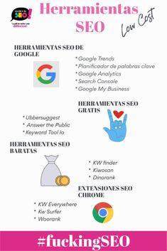 Mejora tu posicionamiento web usando estas herramientas para encontrar palabras clave Seo, Extensions, Tools, Words