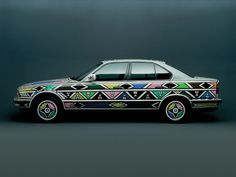 BMW Art Car: 1991 BMW The Art Car was the first to have been signed by a woman. This is not the only fact that makes this BMW so special. The South African artist Esther Mahlangu coa… Custom Bmw, Custom Cars, Bmw E34, Bavarian Motor Works, Bmw Love, South African Artists, Bmw 5 Series, Arte Popular, Bmw Cars