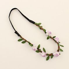 Fashion Women Bride Flower Headband Bohemian Style Rose Flower Crown Hairband Ladies Elastic Beach Hair Accessories 6pcs/lot