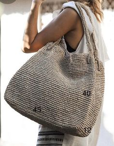 The Straw Handbag Sand Octopus Crochet Pattern, Bag Pattern Free, Straw Handbags, Diy Handbag, Jute Bags, Linen Bag, Basket Bag, Summer Bags, Knitted Bags