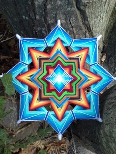 Ally of the Dream Mandala Ojo de Dios 11 inches Boho wall