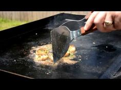 How to cook hibachi style Ginger Scallops Blackstone griddle Hibachi Recipes, Grill Recipes, Top Recipes, Seafood Recipes, Asian Recipes, Cooking Recipes, Flat Top Griddle, Griddle Grill, Outdoor Griddle Recipes
