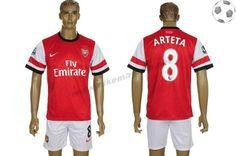 Arsenal Maillot Arteta 8 Domicile 2012-2013 FT405
