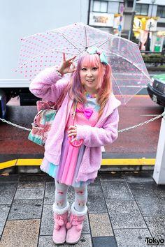 Suiya from DecoLa Hopping w/ Fairy Kei Fashion in Harajuku Japanese Street Fashion, Tokyo Fashion, Harajuku Fashion, Kawaii Fashion, Asian Fashion, Harajuku Style, Pastel Fashion, Colorful Fashion, Pop Fashion