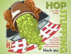 Hop Stuffing Black IPA Recipe #homebrewrecipe #blackipa #thanksgiving