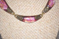 Vintage Signed Art Glass Necklace by LustfulJewels on Etsy