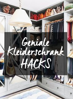 Simple, cheap & ingenious: You have to try these 7 wardrobe hacks! - Home Cleaning Hacks Hacks Diy, Home Hacks, Cleaning Hacks, Marie Kondo Konmari, Genius Ideas, Crafts For Teens To Make, Home Organisation, Attic Organization, Simple Life Hacks