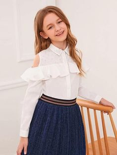 Cute Little Girls Outfits, Stylish Dresses For Girls, Kids Outfits Girls, Dresses Kids Girl, Cute Dresses, Cute Outfits, Teenage Outfits, Baby Dresses, Dress Girl