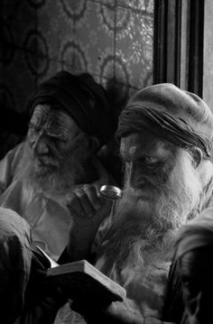 Rabbis in the synagogue of Djerba Island, Tunisia 1957 by George Rodger.