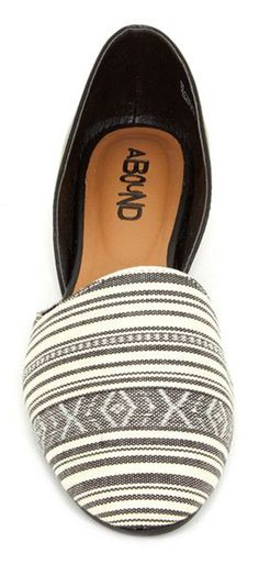 White and Black Patterned Flats