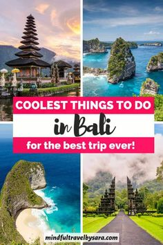 Looking for the best Things to do in Bali Indonesia? In this Bali travel guide you'll find top things to do in Bali, including best Bali beaches, Bali temples, Seminyak, Ubud, Canggu, Uluwatu, Nusa Penida, hotels, Bali food, Bali tourist attractions & the best Bali bucket list! things to do in Bali this weekend | fun things to do in Bali at night | things to do in Bali for couples | cheap things to do in Bali I Instagram Spots Bali I Bali Honeymoon I Bali Itinerary #Bali #BaliTravel #Indonesia Bali Travel Guide, Travel Blog, Asia Travel, Travel Usa, Travel Guides, Travel Tips, Cool Places To Visit, Places To Travel, Places To Go