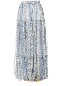 This is the Buenavista Blue Metallic Maxi Skirt by stunning brand Mes Demoiselles. Flared long printed skirt can be worn high waisted or on the hips with its elastic waistband. Leopard Dress, Pink Leopard, Striped Shorts, Yellow Dress, Metallic, Skirts, Clothing, How To Wear, Blue