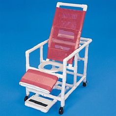 PVC Reclining Commode Shower Chair - Shower Chair Recliner