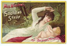 Mrs Winslow's Soothing Syrup | Vintage Public Domain Pictures