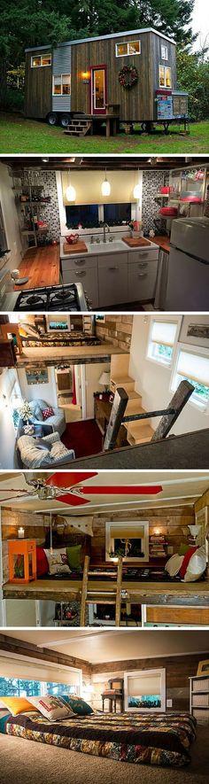 A cozy DIY tiny home in Sherwood, Oregon.