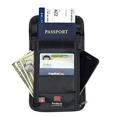 Travel Document Organizer  Nylon Wallet with Rfid Blocking to Protect your Cards and Passports * You can find out more details at the link of the image.