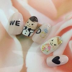 Wedding Nails-A Guide To The Perfect Manicure – NaiLovely Bridal Nails Designs, Wedding Nails Design, Gel Nail Designs, Wedding Nail Colors, Winter Wedding Nails, Nail Wedding, Summer Wedding, Cute Nails, My Nails