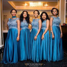 Bridesmaids in Blue WEDDaily005