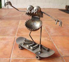 Skateboarder Riding Skate Board, Garden Art - Fred Conlon