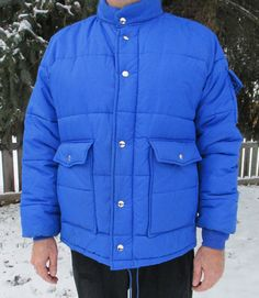 VINTAGE SWINGSTER BLue Puffer Jacket World of by FourCoquettes