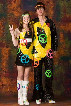 Halloween costumes-made from duct tape