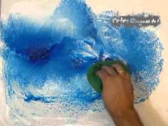 How to paint an abstract seascape modern painting by Peter Dranitsin.