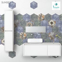 Hexagon Tiles, Your Space, Double Vanity, Ceramics, Ceramica, Pottery, Ceramic Art, Clay Crafts, Porcelain
