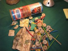 1950's toys and games | Tinker toys in original canister 1950's by VintEssentials on Etsy