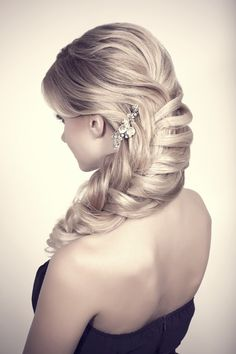 Bridesmaid Half Updo Hair Styles for Wedding | hairstyles for bridesmaids braided bridesmaid ponytail hairstyle ...
