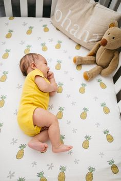 Pineapple Crib Sheet - Coco Moon