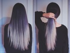 black and silver ombre hair - Google Search