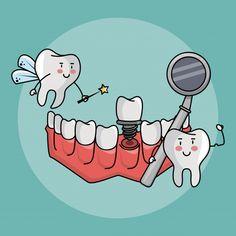 Tooth fairy and dental care hygiene cute cartoons vector illustration graphic design Illustration , Dentist Cartoon, Dentist Humor, Tooth Cartoon, Dental Kids, Dental Art, Dental Meme, Dental Logo, Tooth Fairy Dental, Dental Wallpaper