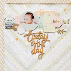 #papercraft #scrapbook #layout. Today is the day by geekgalz at @studio_calico