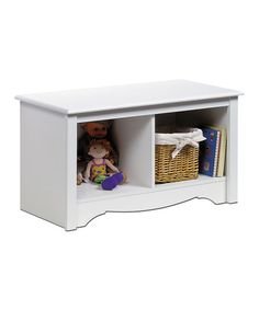 Black Double Cubby Bench | Daily deals for moms, babies and kids