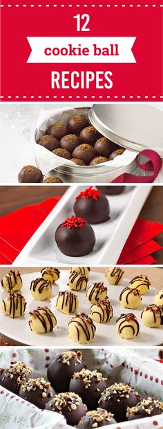 12 Cookie Ball Recipes – For an easy, no-bake treat that's sure to wow at any holiday party or seasonal cookie exchange, check out this collection of cookie ball recipes! Click for Cool Mint OREO Cookie Balls, Tiramisu Cookie Balls, and more.