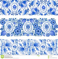 Gzhel Pattern | Russian Traditional Blue Ornament In Gzhel Style Royalty Free Stock ...