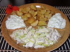 Csiperke blogja: Szalonnás-póréhagymás-fokhagymás csirkeragu