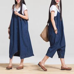 2015 Nuevos Mamelucos de Mezclilla de Las Mujeres pantalones Anchos de La Pierna Pantalones Del Mono Sin Tirantes Azul Envío Gratis en Mono de Moda y Complementos Mujer en AliExpress.com   Alibaba Group