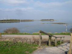 View towards Horrid Hill, Medway Estuary, Gillingham, Kent, UK