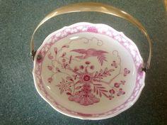 Antique Meissen Porcelain Dish with silver handle #Meissen