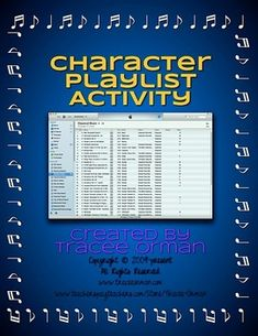 Character or Book Playlist / Soundtrack Activity Handout