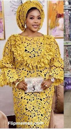 African Fashion Skirts, African Fashion Designers, African Inspired Fashion, African Dresses For Women, African Attire, African Wear, Nigerian Lace Dress, African Fashion Traditional, African Print Dress Designs