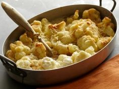 Cauliflower Gratin; French Food at Home, Cooking Channel.   Looked delicious and when I watched her make it!