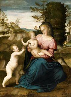 Giovanni de Lorenzo Larciani (1484 - 1527) - Madonna and Child.